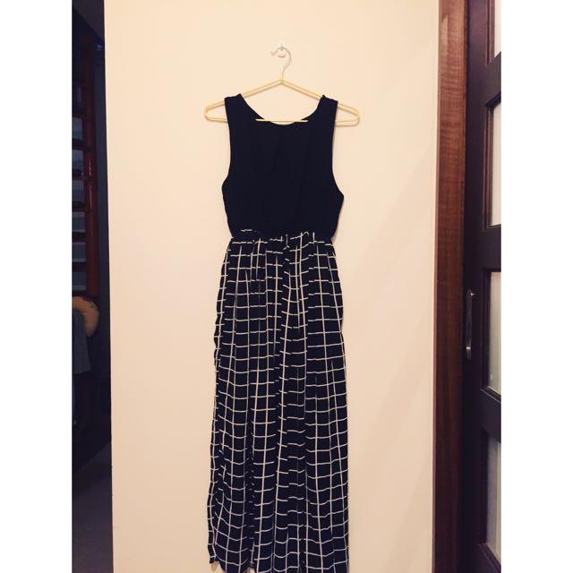 簡約格子長裙