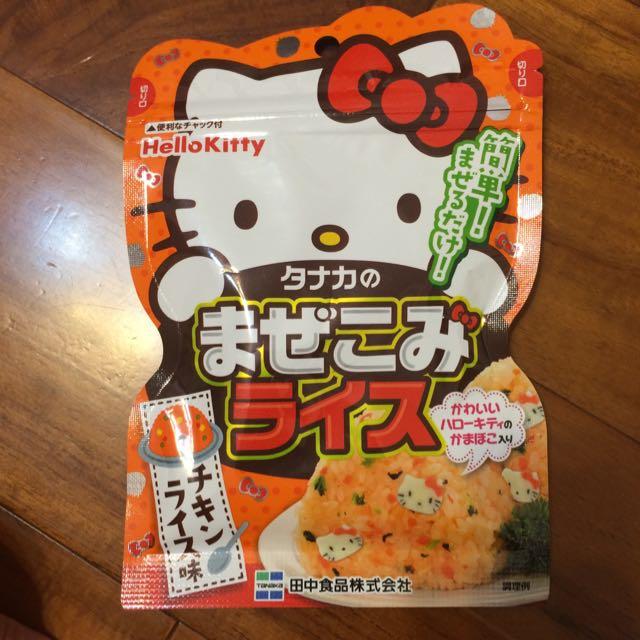 凱蒂貓造型拌飯料-雞汁口味