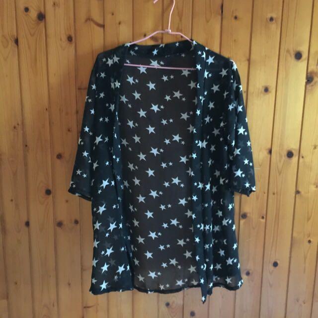 ⭐️⭐️星星圖騰  ✨黑色薄衫