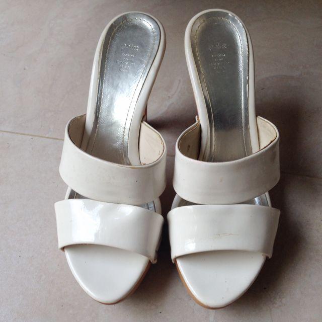 韓國 寬版 木根 高根鞋 23.5