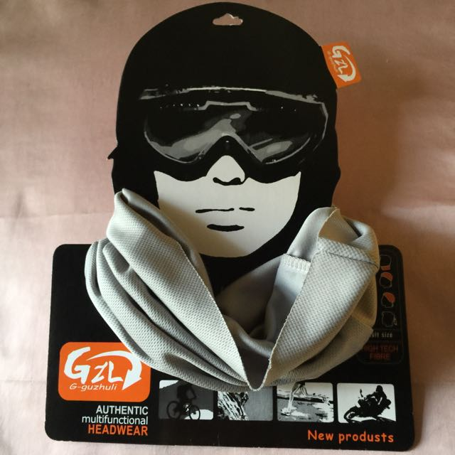 Brand New Grey Multifunctional Bandana   Headwear 1306fc80a33