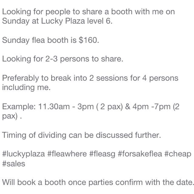 Share Flea Booth @ Lucky Plaza