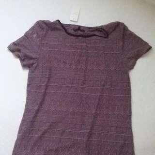 XS Purple Shortsleeve Top NWT