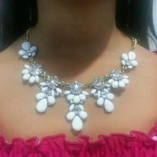 Statement Necklace With Stud Earnings