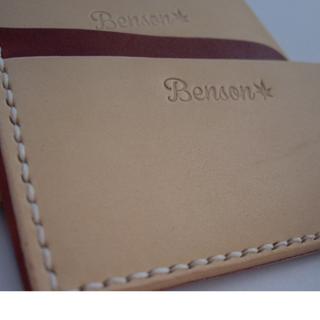 Benson 手縫皮件  手工 手縫 極簡式卡片/名片夾
