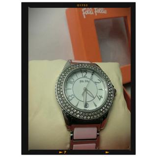Folli Follie粉色陶瓷錶
