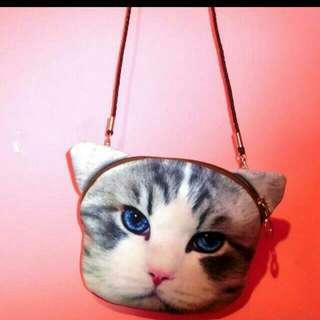 日本仿真貓咪肩背包