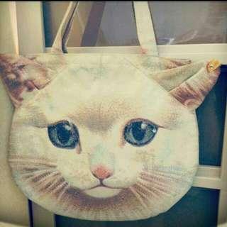 日本仿真貓咪手提包