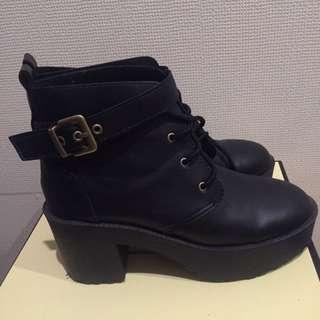 d+af厚底踝靴24號