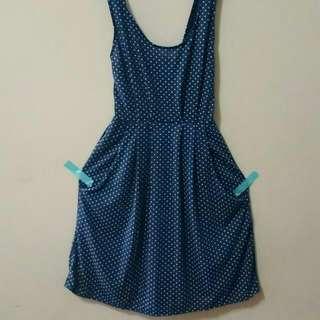🚚 靛藍點點 小洋裝