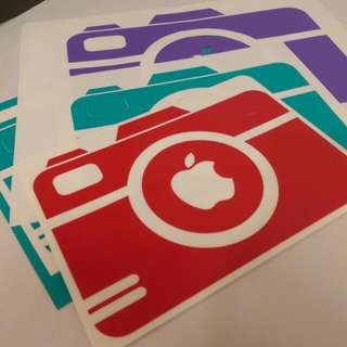 Apple Camera: Macbook Vinyl Decal Clearance.