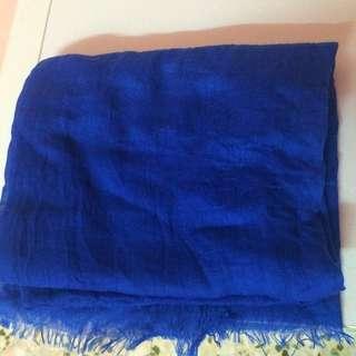 Blue Viscose Shawl (reserved)