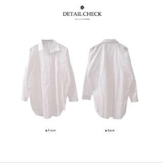 單口袋白襯衫(全新)