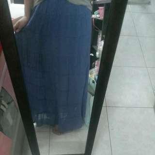 長裙 藍色