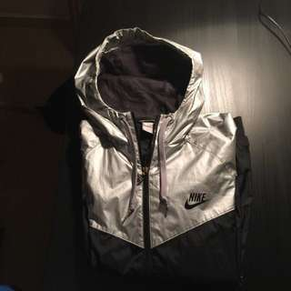 Nike's Wind-Runner Jacket (Metallic Silver)