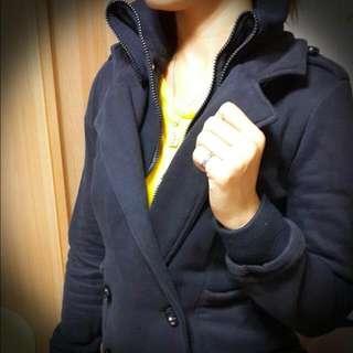 修身雙排扣立領外套