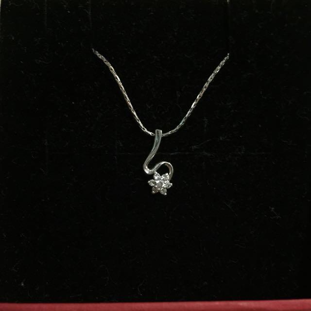 純銀花朵項鍊