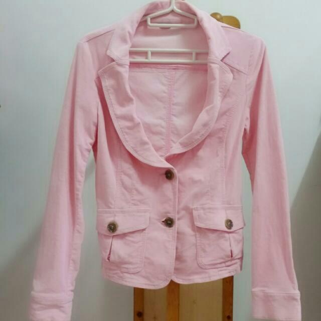 #出清舊愛~班尼頓~粉色外套