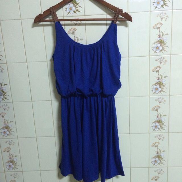 🌻全新🌻泰國購入藍色氣質束腰小洋裝