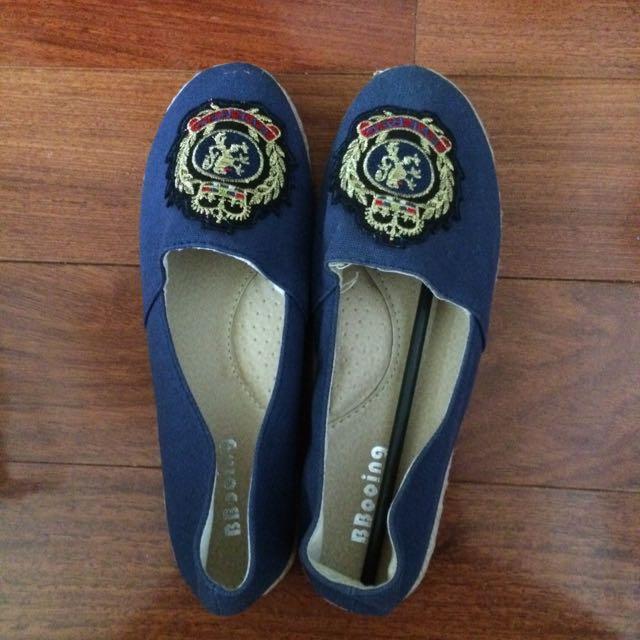 全新 帆布懶人鞋 38