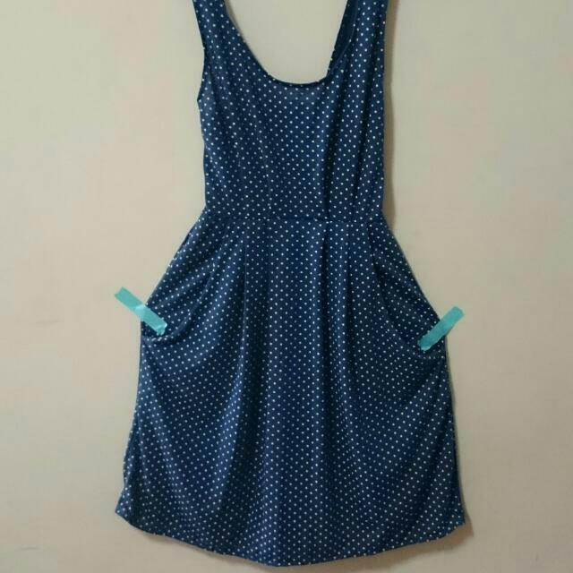 靛藍點點 小洋裝