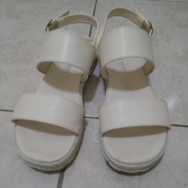 二手 富發牌 勃肯 涼鞋 白色 百搭 24.5