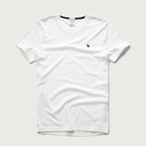 f3a53807a Abercrombie & Fitch Muscle Fit Crew Tee (White) Size S, Men's ...