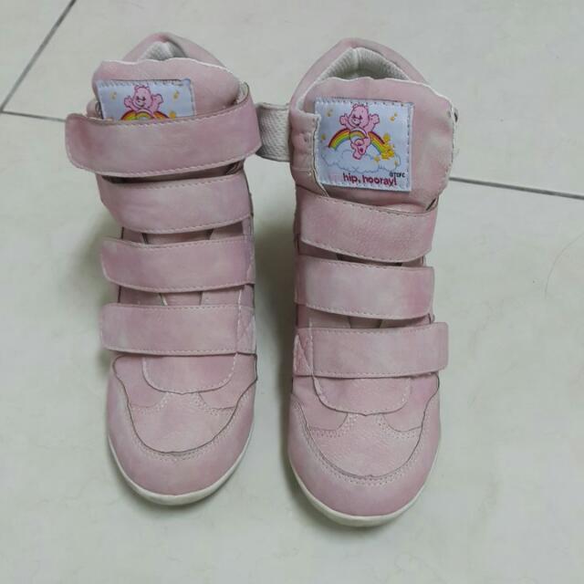 anns Care Bears粉紅增高布鞋36號