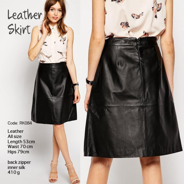 Black LIMITED Edition Leather Skirt Import PREMIUM (RK084)