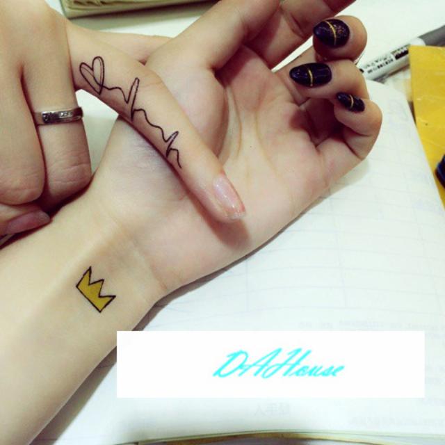 韓國東大門流行紋身防水貼紙Smile小清新小面積紋身(兩張70