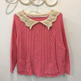 粉紅針織毛衣
