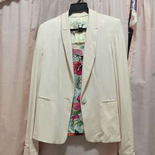 Mango Pink Jersey Jacket