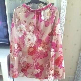 3/4 Skirt Chiffon with Lining