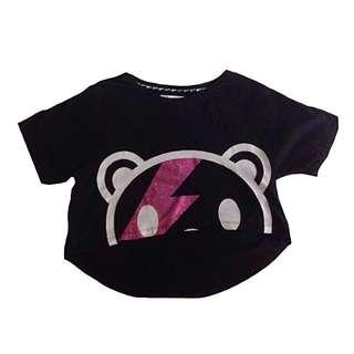 💥降❕BSX 正版 熊貓短版T恤 前短後長 兩件式