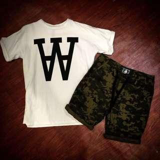 W全棉上衣+數位迷彩短褲