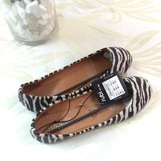 Rubi Zebra Print Flat Shoes