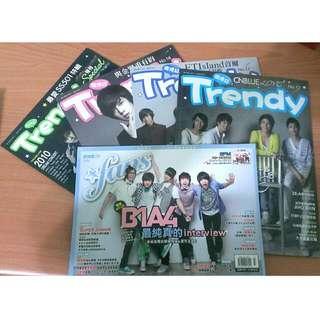 Trendy偶像誌(CNBLUE,ZE:A,B1A4...) -九成五新,保存良好-