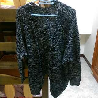 秋冬黑白混色針織外套