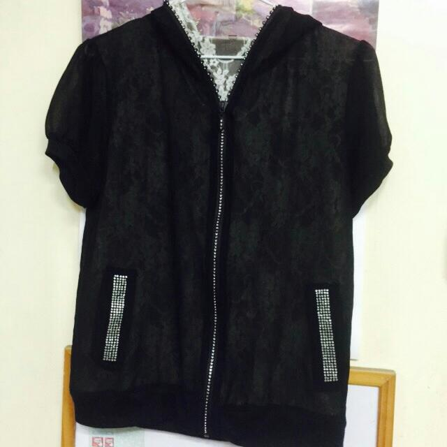 韓版雪紡外套(8成新)