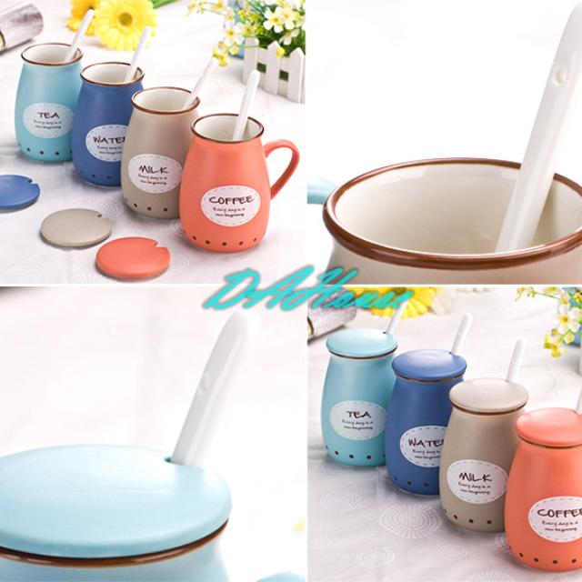 無印良品字母馬克杯咖啡杯牛奶瓶附杯蓋湯匙送韓國可愛杯墊
