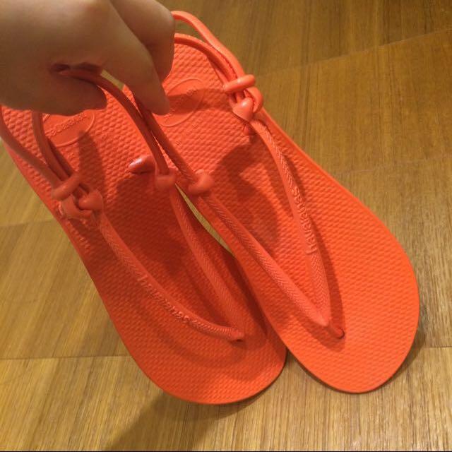(待面交)哈瓦仕夾腳涼鞋