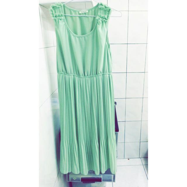 湖水綠長裙免運