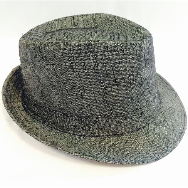 深灰素面紳士帽(代客訂製各式專屬帽子)潮流帽子 鴨舌帽 潮帽