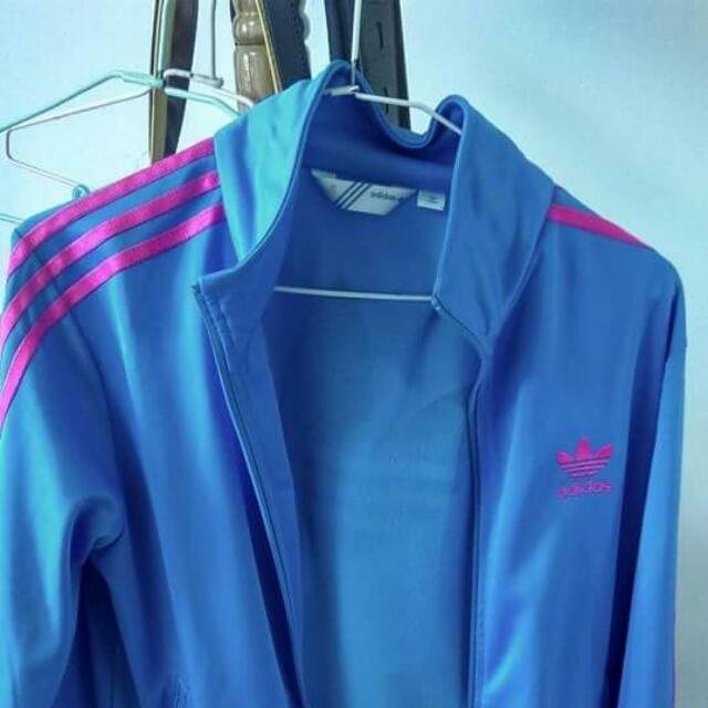 含運 Adidas愛迪達 藍粉外套 正版