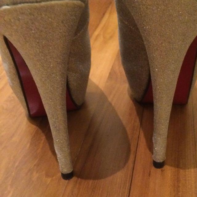 b7b9d7900c87 Christian Louboutin Inspired Silver Princess Heels