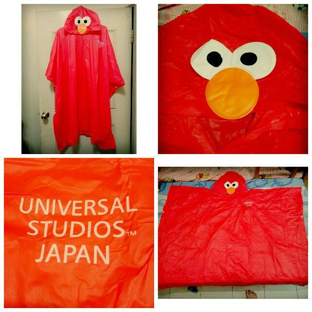 (保留)日本環球影城帶回Elmo斗篷雨衣(成人版)