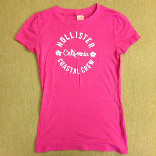 Hollister 女生 桃紅色 Tshirt S號