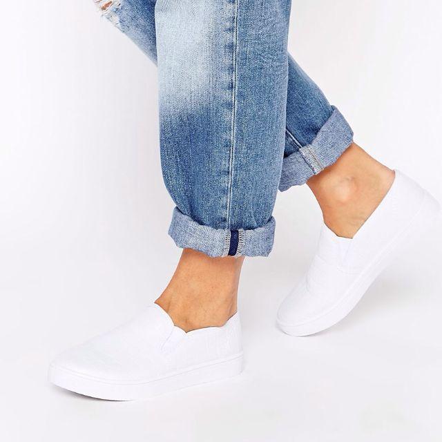 全新new Look白色蛇紋懶人鞋slip On