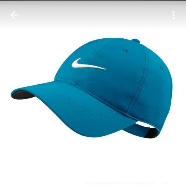 全新刺繡nike帽 藍底 白logo