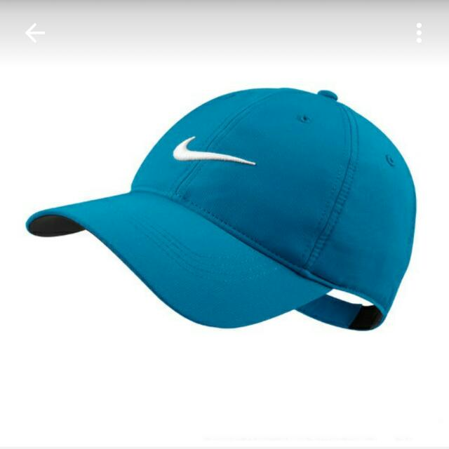 全新刺繡nike棒球帽 藍底 白logo